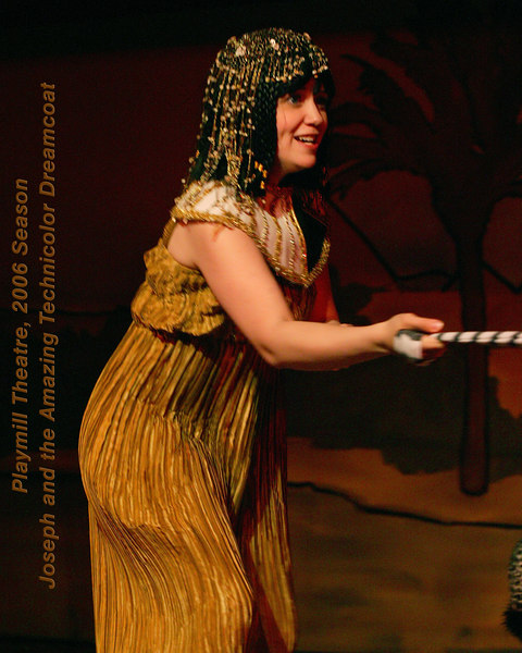 Andrea Daveline as wife of Potiphar from the cast of Joseph and the Amazing Technicolor Dreamcoat at the Playmill Theatre, West Yellowstone, MT August 2006.