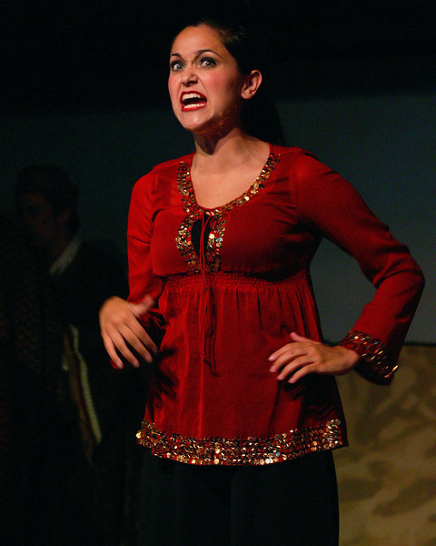 Rachael Lynn Woodward as the narrator from the Cast of Joseph and the Amazing Technicolor Dreamcoat at the Playmill Theatre, West Yellowstone, MT August 2006.