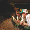 "Ryan Simmons and ? in the ""Foreigner"" at the Playmill Theatre in West Yellowstone, MT, 2005."