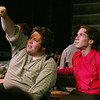 "Christian Busath as Caleb and Jeff Gonzalez as Gideon in ""Seven Brides for Seven Brothers"" performed in the Summer 2006 season at the Playmill Theatre in West Yellowstone, MT."
