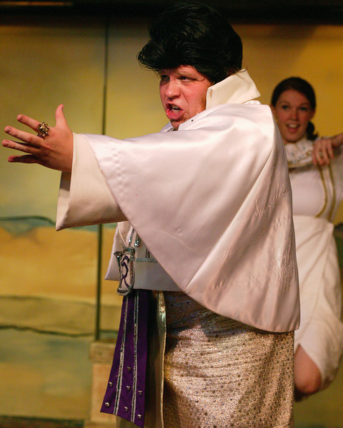 "Christian ""Willow"" Busath as the ""Elvis"" Pharoah from the Cast of Joseph and the Amazing Technicolor Dreamcoat at the Playmill Theatre, West Yellowstone, MT August 2006"