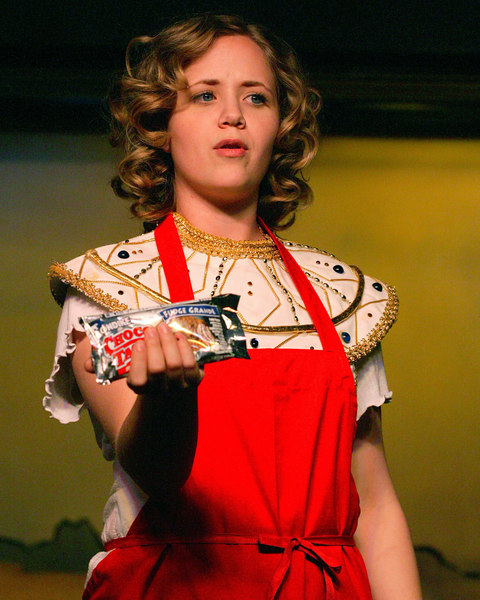 Andrea Daveline sells candy during intermission at the Playmill Theatre, August 2006.