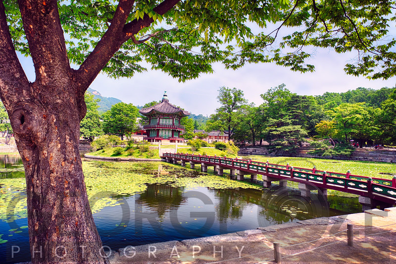 Footbridge Leading to a Pavilion, Seoul