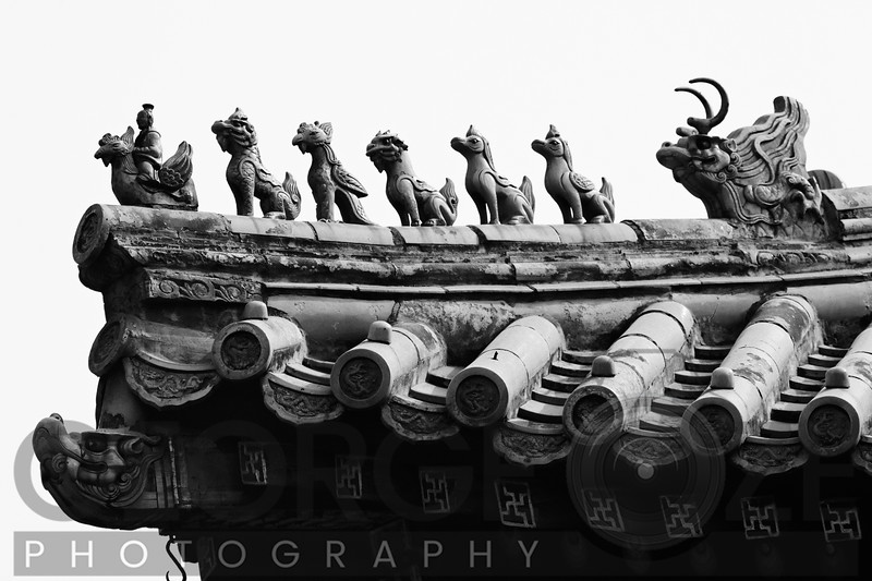 Roof Figures on Ridges, Yonghe Lamasery, Beijing, China