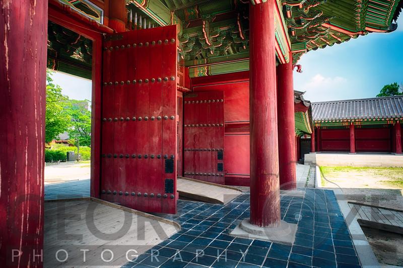 Inner Gates of the Changdeok Palace, Seoul, South Korea