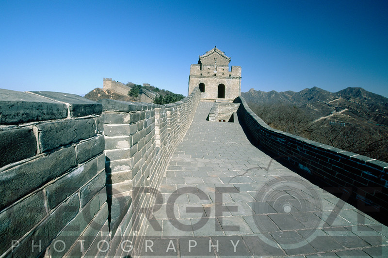 Section of a Great Wall of China with a Watchtower