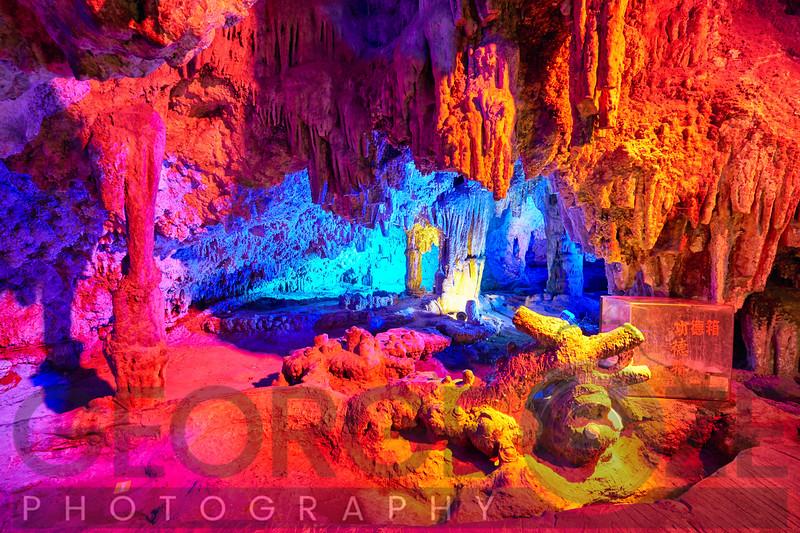 Dragon Shped Rock Formation ina Karst Cave, Zashui, Shaanxi, China