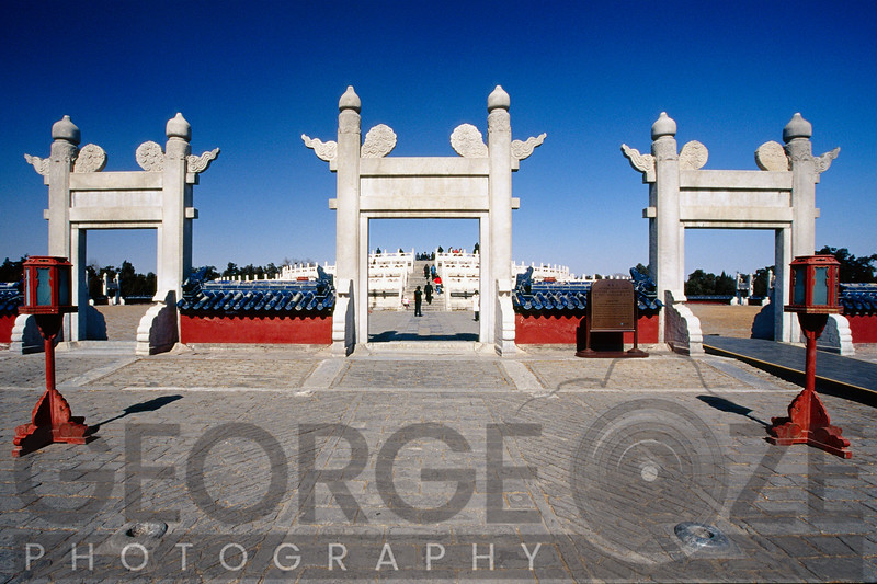 Gates leading to the Circular Mound Altar, Temple of Heaven, Beijing, China