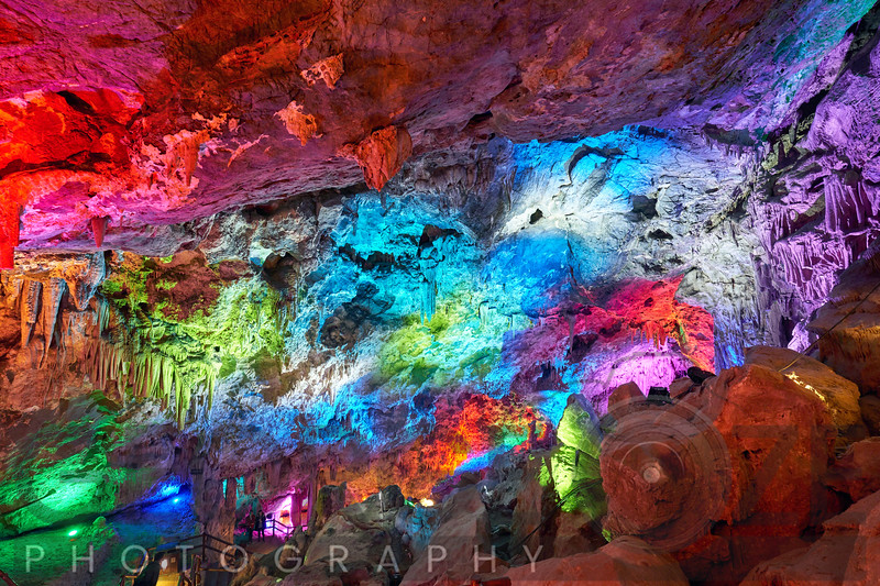 Colorful Big Karst Cave, Zhashui County, Shaanxi, China