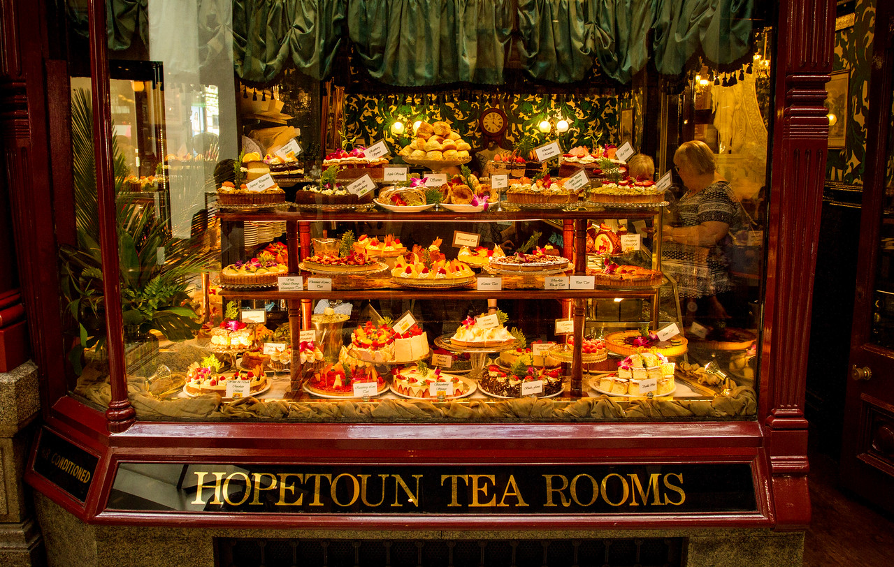 Famous tea room downtown
