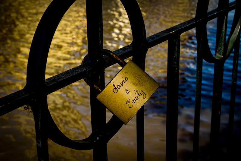 Lots of these love locks around town