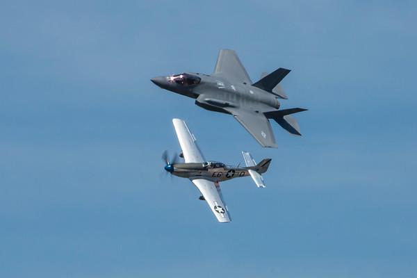 Heritage Flight--P-51 & F-35