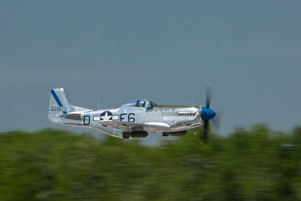 "North American P-51D ""Sierra Sue""--low pass."