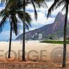 Ipanema Beach Viewed Through Palm Trees, Rio De Janeiro, Brazil