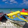 Three Colorful Fishing Boats on the Dunes, Aruba