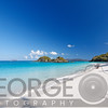Turquoise Waters of a White Sand Beach, Trunk Bay,St John, US Virgin Islands