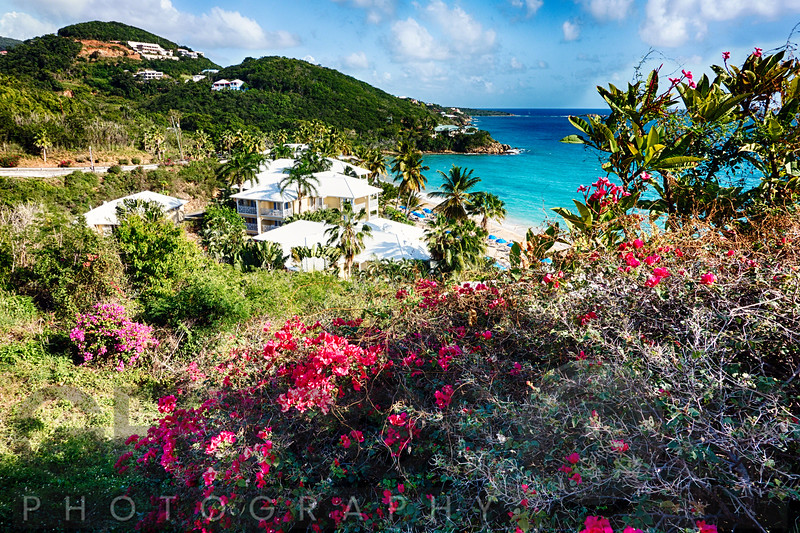 View of the Morning Star Resort  froma Hill, St Thomas, US Virgin Islands