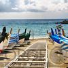 Row of Traditional Boats on the Shore, Monterosso Al Mare, Cinque Terre, Liguria, Italy