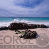 Rocks, Waves and Pink Sand, Elbow Beach, Bermuda
