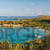 High Angle Panoramic View of Caneel Bay, St John, US Virgin Islands