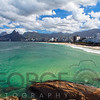 High Angle view of Ipanema Beach, Rio de Janeiro, Brazil