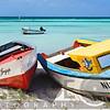 Colorful Traditional Fishing Boats on Eagle Beach, Aruba