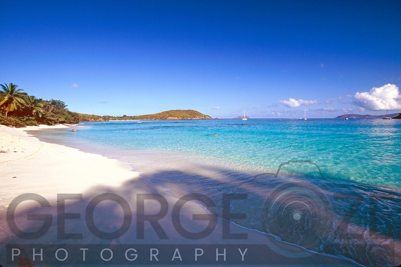 View of a Caribbean Beach, Hawksnest Bay, St John, US Virgin Islands