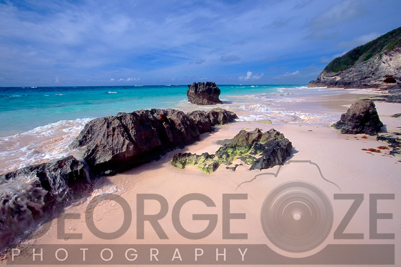 Rock Fromation on a Pink Sand Beach, Elbow Beach Paget Parish, Bermuda