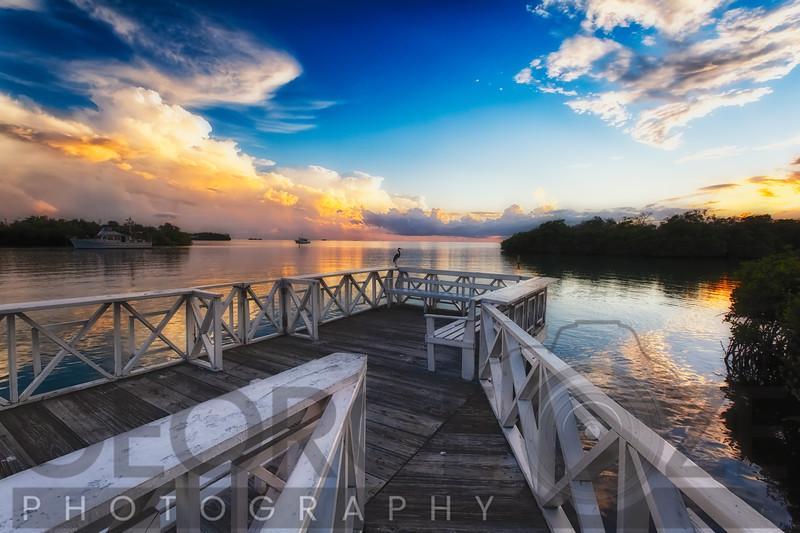 Wooden Dock with Sunset, La Parguera, Puerto Rico