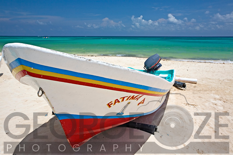 Fishing Boat Fatima on Playa Del Carmen, Mexico