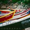 View of Colorful  Fishing Boats on Crashboat Beach,  Aquadilla, Puerto Rico