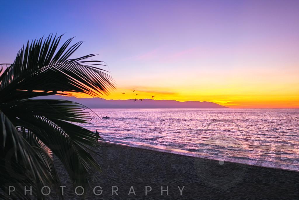 Los Muertos Beach Sunset, Puerto Vallarta, Mexico