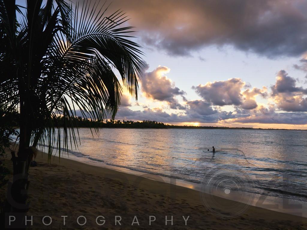 Caribbean Sunset, Vacia Telaga Beach, Pinones Nature Preserve, Puerto Rico