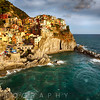 Afternoon Sun in Manarola Harbor and Town, Cinque Terre, Liguria, Italy