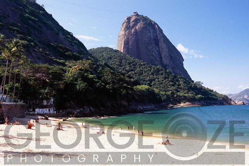 Beach with a View of Sugarloaf Mountain, Vermelha Beach, Rio de Janeiro, Brazil