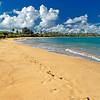 Footprints in the Sand on a Caribbean Beach, Loisa, Puerto Rico