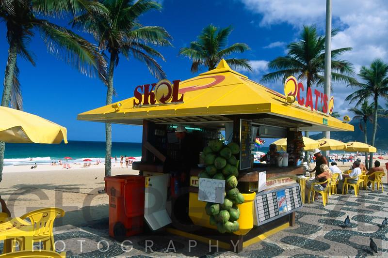 Kiosk on Ipanema Beach, Rio de Janeiro, Brazil