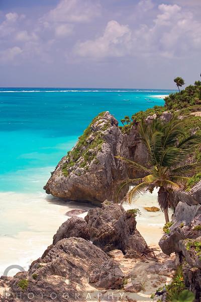 Rocky Cove, Tulum Beach, Yucatan,Mexico