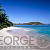 View of a Caribbean Beach, Hawksnest Bay, Saint John, US Virgin Islands.