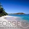 View of a Caribbean Beach, Hawksnest Bay, Saint John, US Virgin Islands.