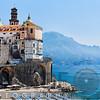 Coastal Town with Beach, Amalfi, Campania, Italy