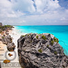 Turquoise Waters of Tulum Beach, Yucatan, Mexico