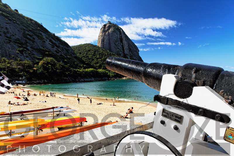 Old Cannon Overlooks a Beach, Vermelha Beach, Rio de Janeiro, Brazil