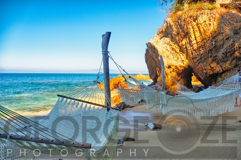 Beach Hideway with Hammocks, Las Caletas, Mexico