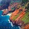 Na Pa Li Coast Aerial View, Kauai, Hawaii
