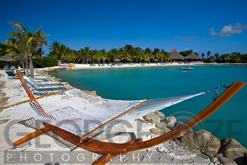 Hammock on The Beach, Iguana Beach, Renaissance Island, Aruba