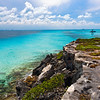 Caribbean Shoreline at Punta Sur, Isla Mujeres, Quintana Roo, Mexico