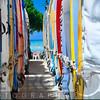 Rows of Surfboards on Waikiki Beach, Honolulu; Oahu, Hawaii