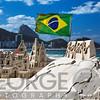 Sand Castleon a Beach, Copacabana, Rio de Janeiro, Brazil