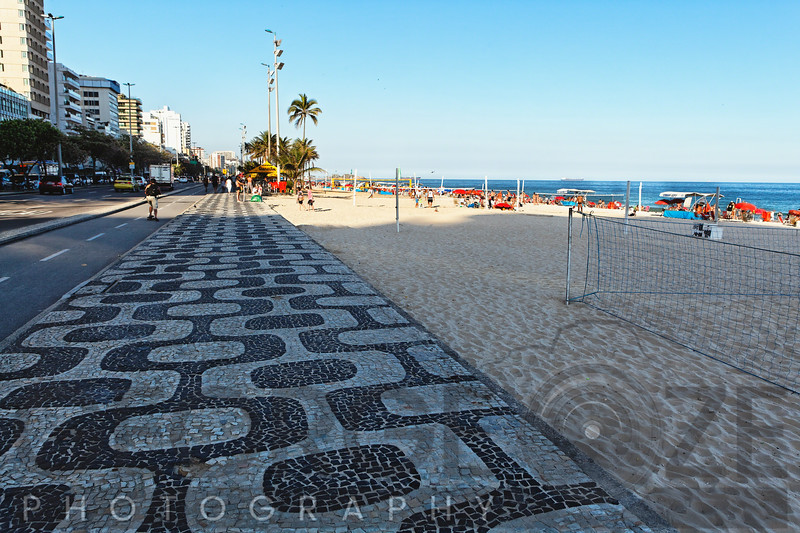 Patterned Walkway of Ipanema Beach, Ro de Janeiro, Brazil